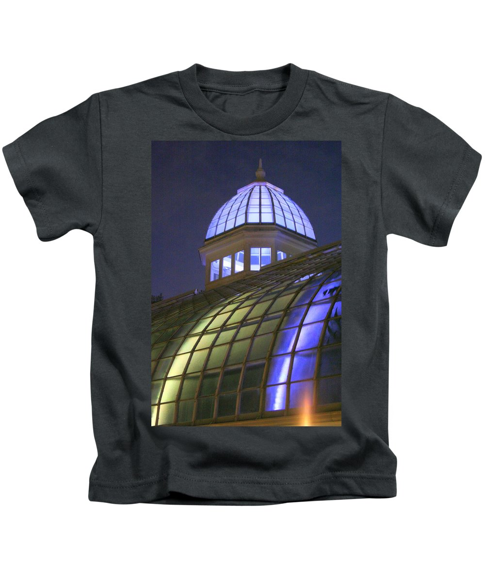 Cupola Kids T-Shirt featuring the photograph Cupola At Night by Laurel Talabere
