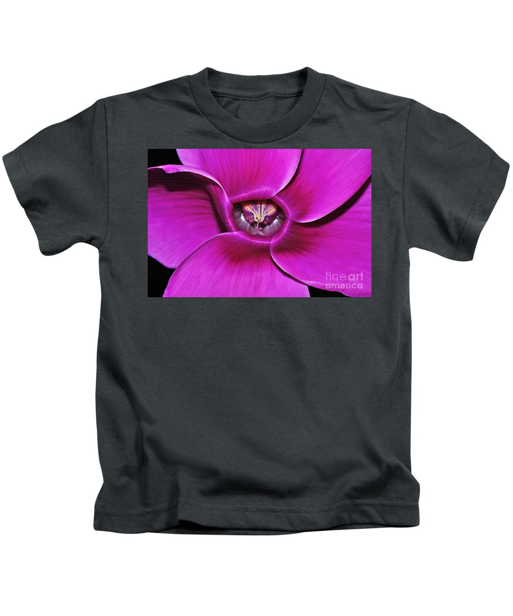 Photography Kids T-Shirt featuring the photograph Cyclamen Beauty by Kaye Menner