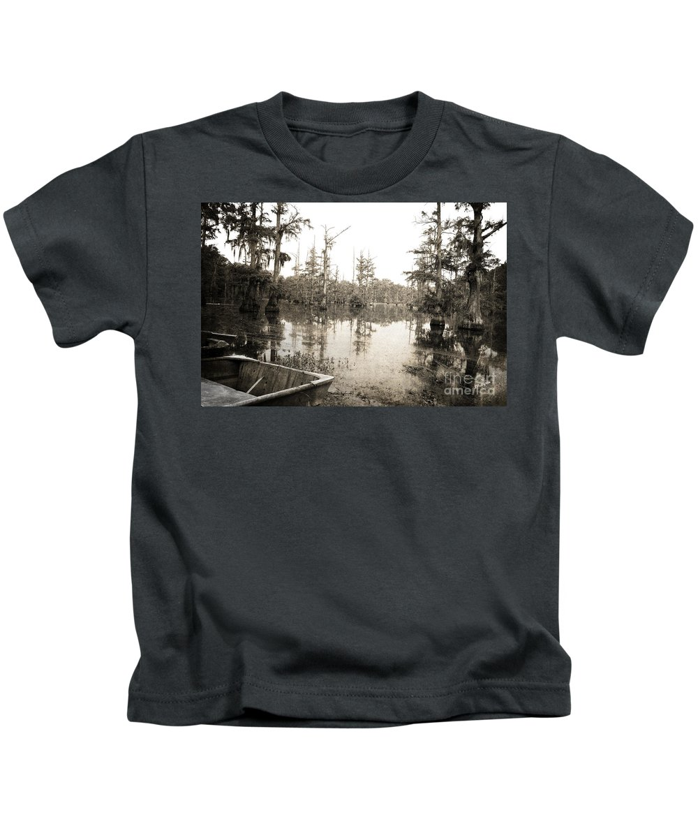 Swamp Kids T-Shirt featuring the photograph Cypress Swamp by Scott Pellegrin