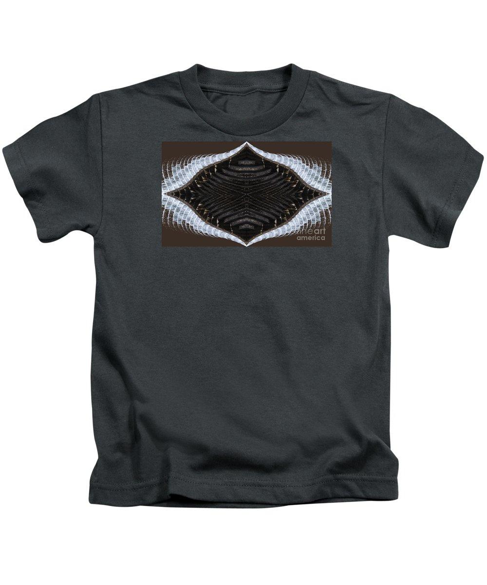 Dammed Kids T-Shirt featuring the digital art Dammed by Wendy Wilton