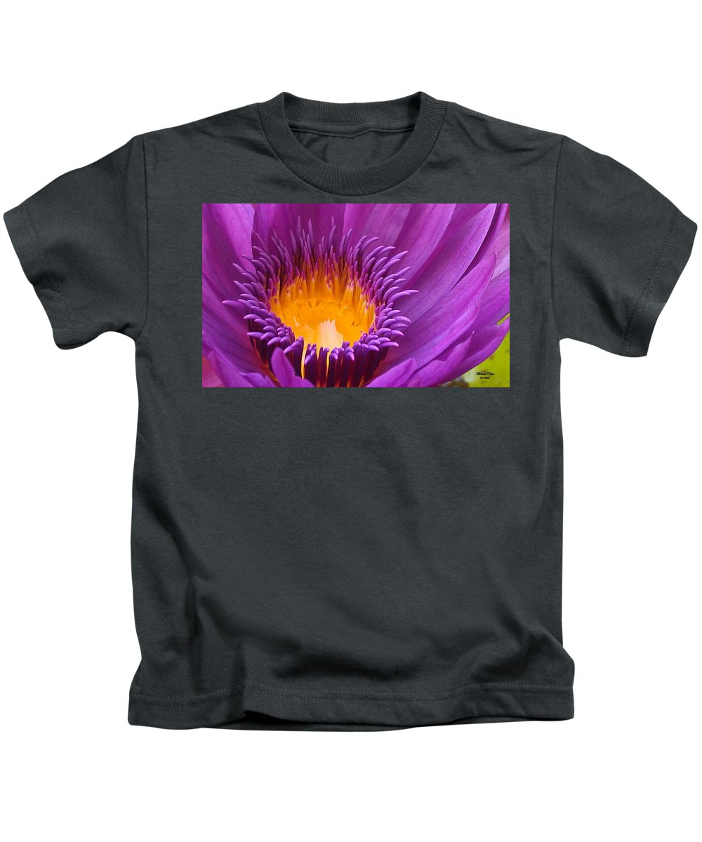 Flower Photograph Kids T-Shirt featuring the photograph Dance In The Garden by Michele Penn