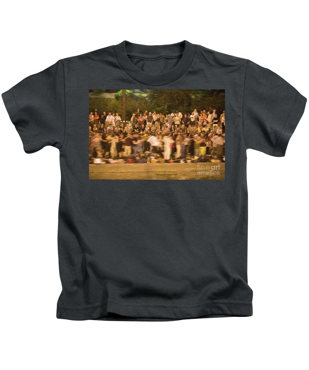 Seine Kids T-Shirt featuring the photograph Dancers on the banks of Seine by Sheila Smart Fine Art Photography
