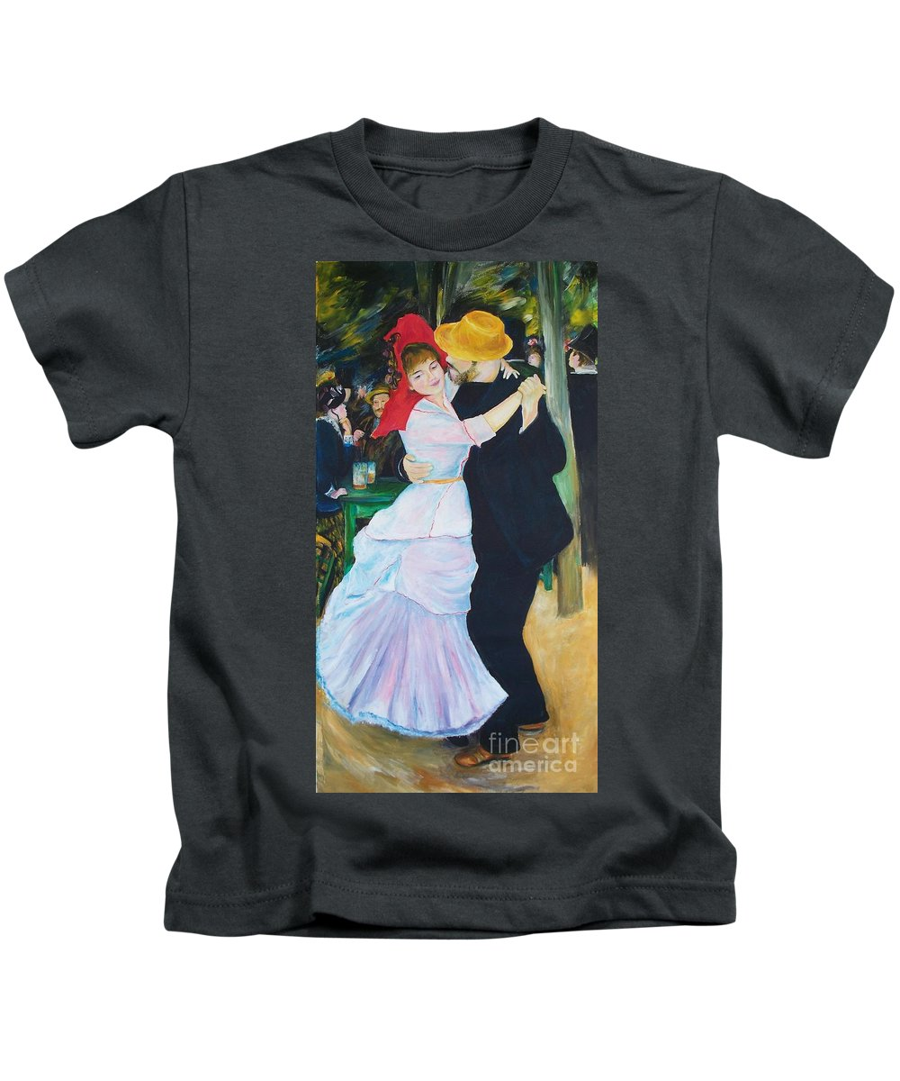 Dancing Painting Kids T-Shirt featuring the painting Dancing Couple by Eric Schiabor