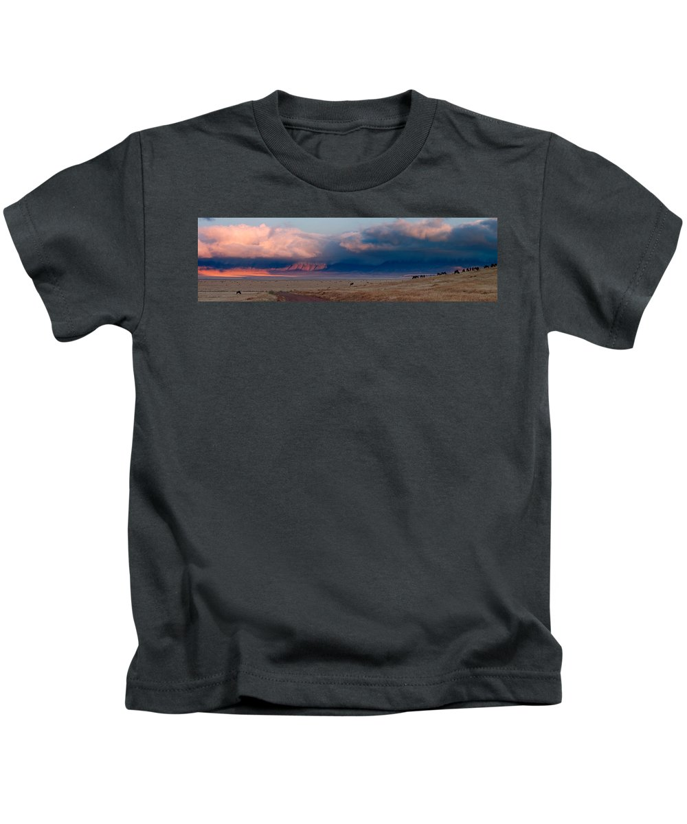 3scape Kids T-Shirt featuring the photograph Dawn In Ngorongoro Crater by Adam Romanowicz