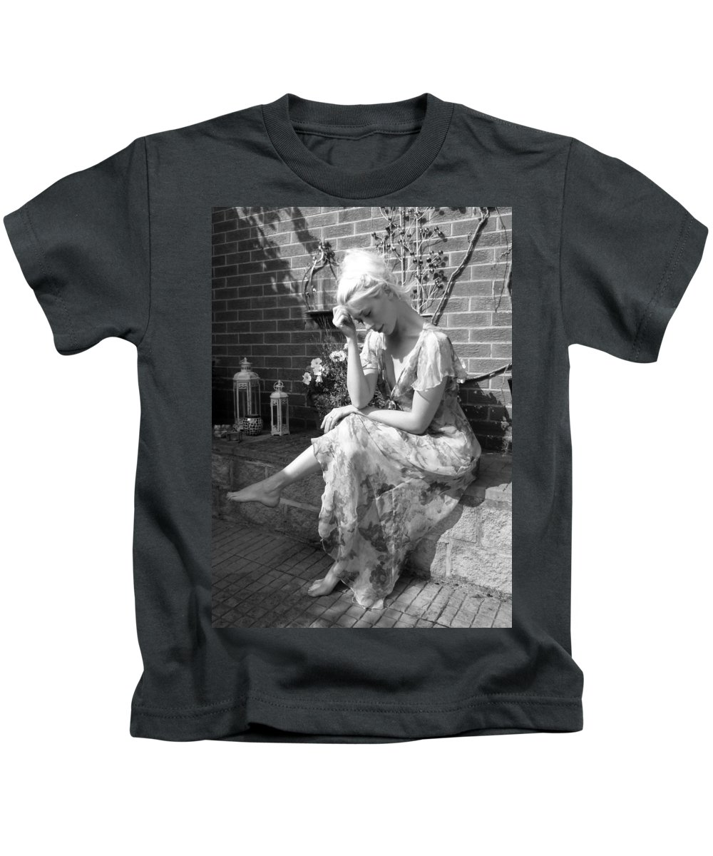 Kids T-Shirt featuring the photograph Deep In Thought by Asa Jones