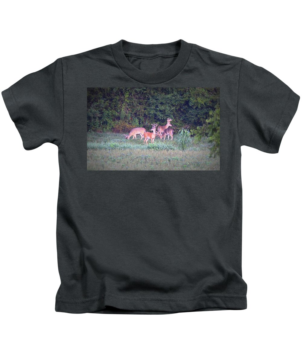 Deer Kids T-Shirt featuring the photograph Deer-img-0158-001 by Travis Truelove