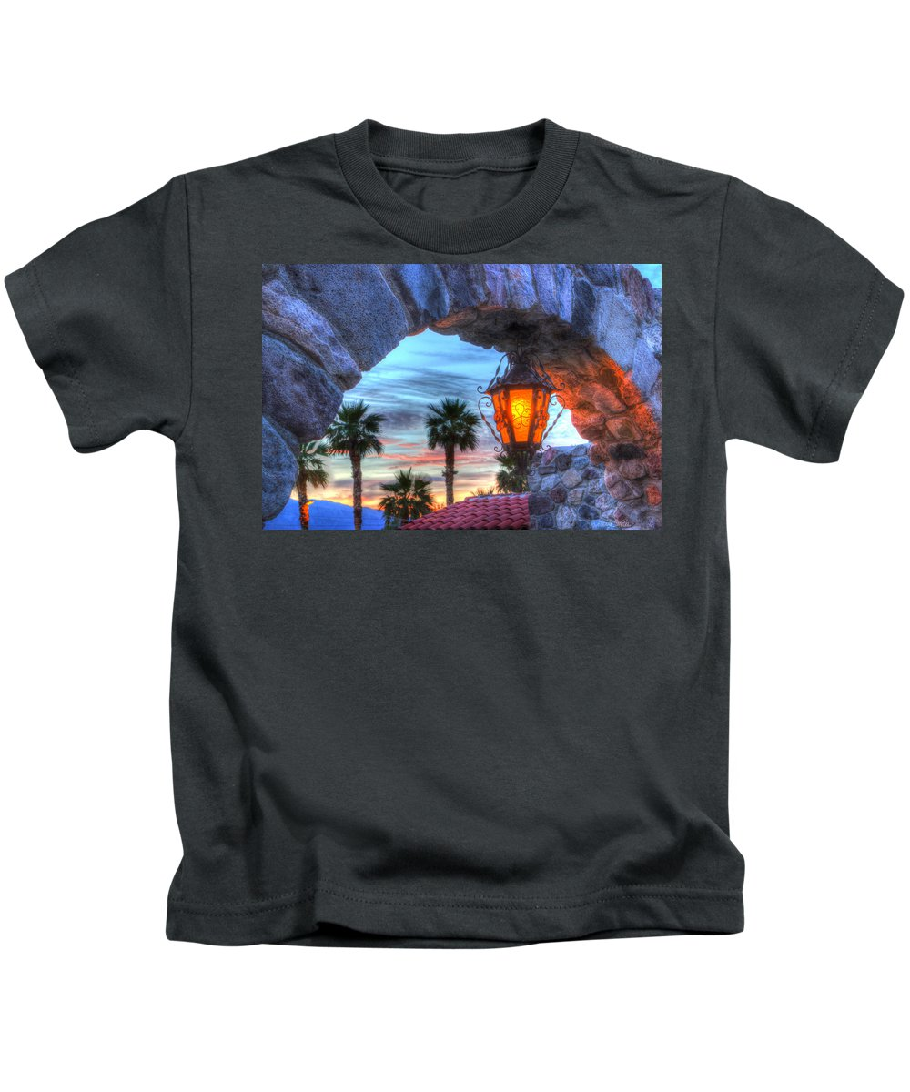Death Kids T-Shirt featuring the photograph Desert Sunset View by Heidi Smith