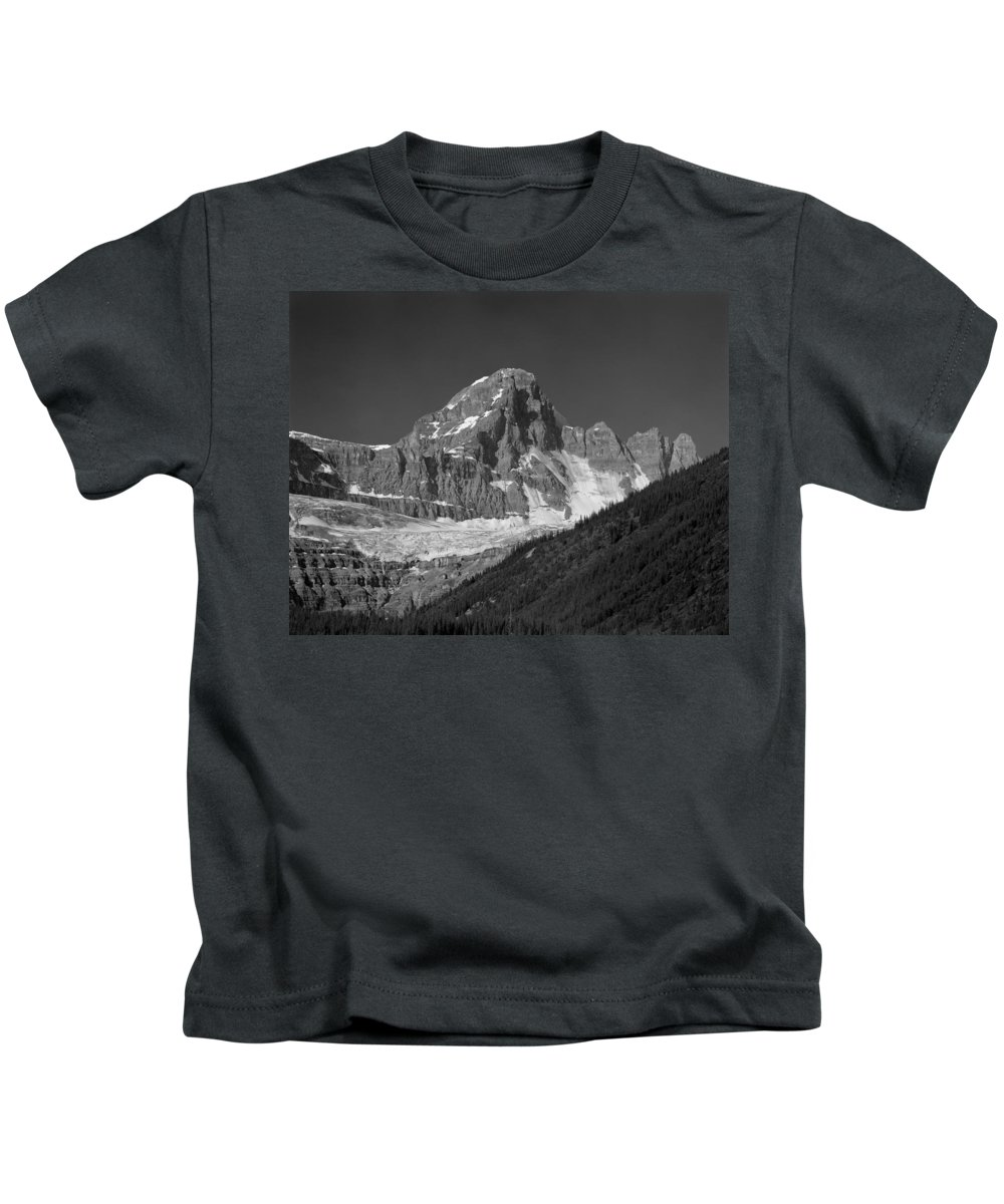 Diadem Peak Kids T-Shirt featuring the photograph 1m3728-bw-diadem Peak by Ed Cooper Photography