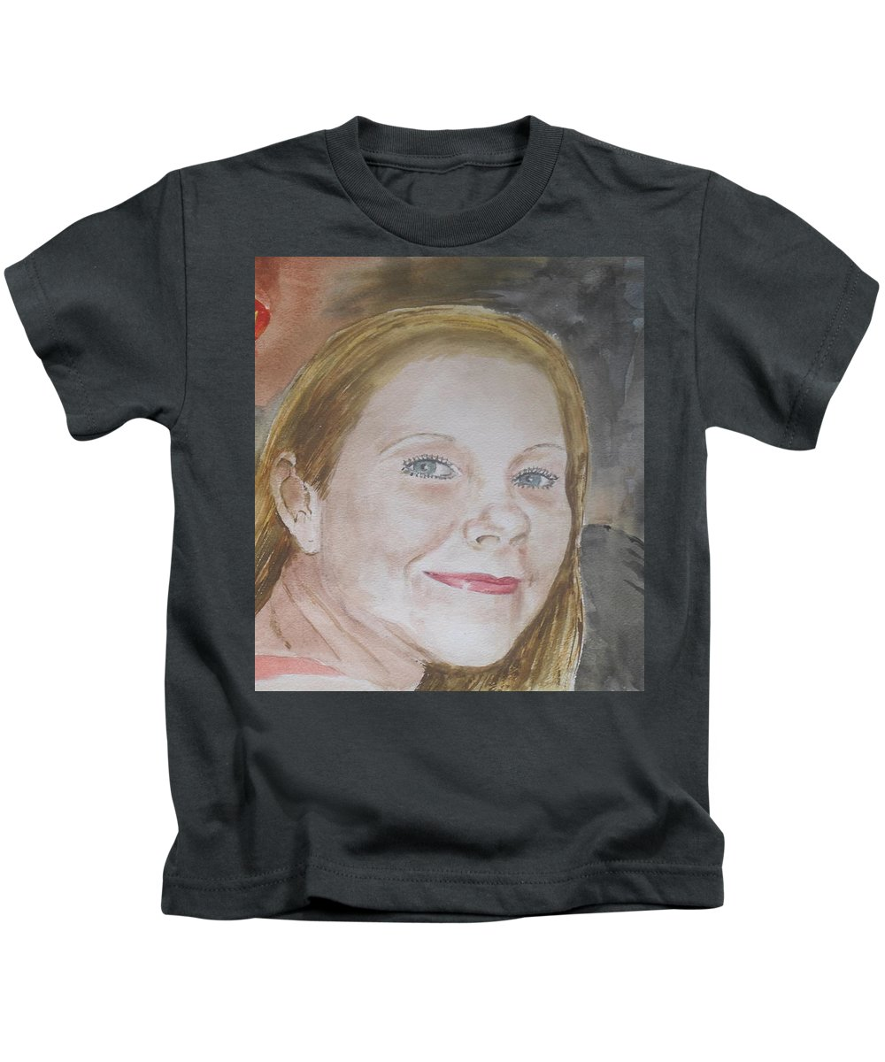 Forever Amber Barrachina Puerto Rico Home Of Pina Colada Kids T-Shirt featuring the painting Dinner At Barrachina by Frank Hunter