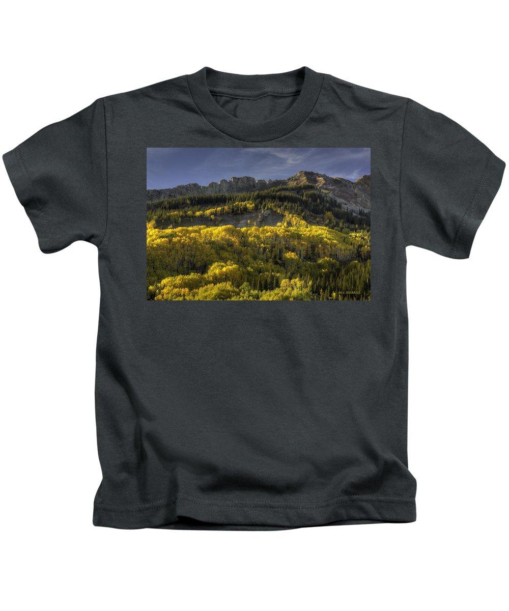 Landscape Kids T-Shirt featuring the photograph Dinosaur Back Autumn by Bill Sherrell