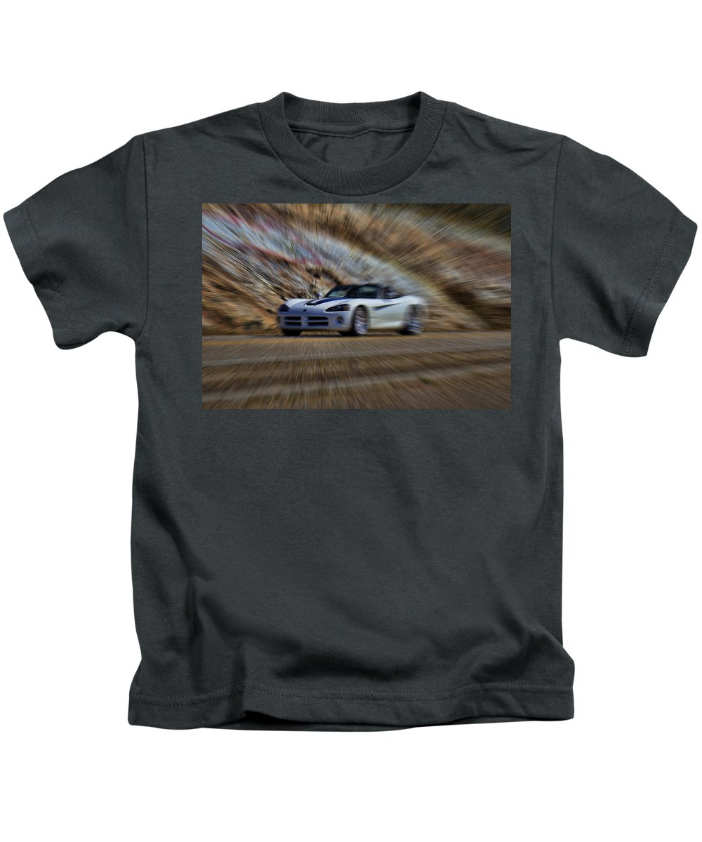 Chevy Corvette Viper Kids T-Shirt featuring the photograph Dodge Viper V3 by Douglas Barnard