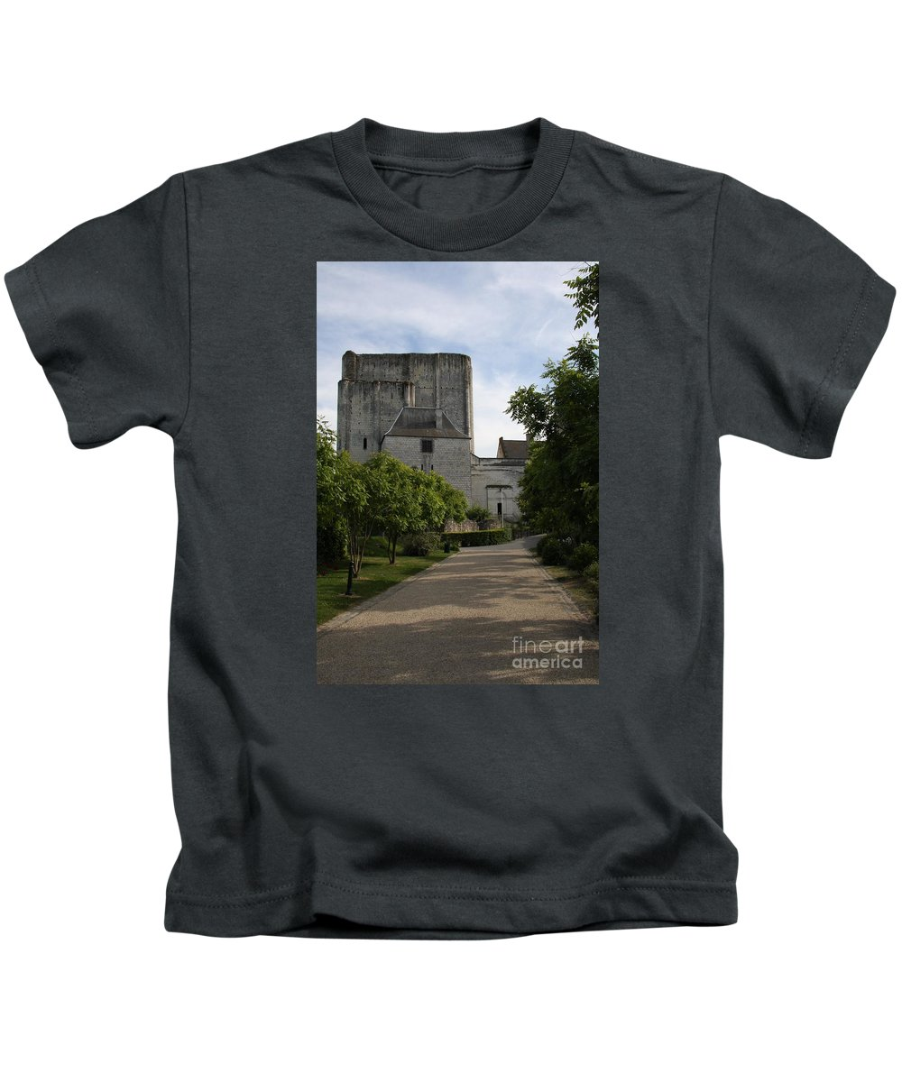 Donjon Kids T-Shirt featuring the photograph Donjon Loches - France by Christiane Schulze Art And Photography