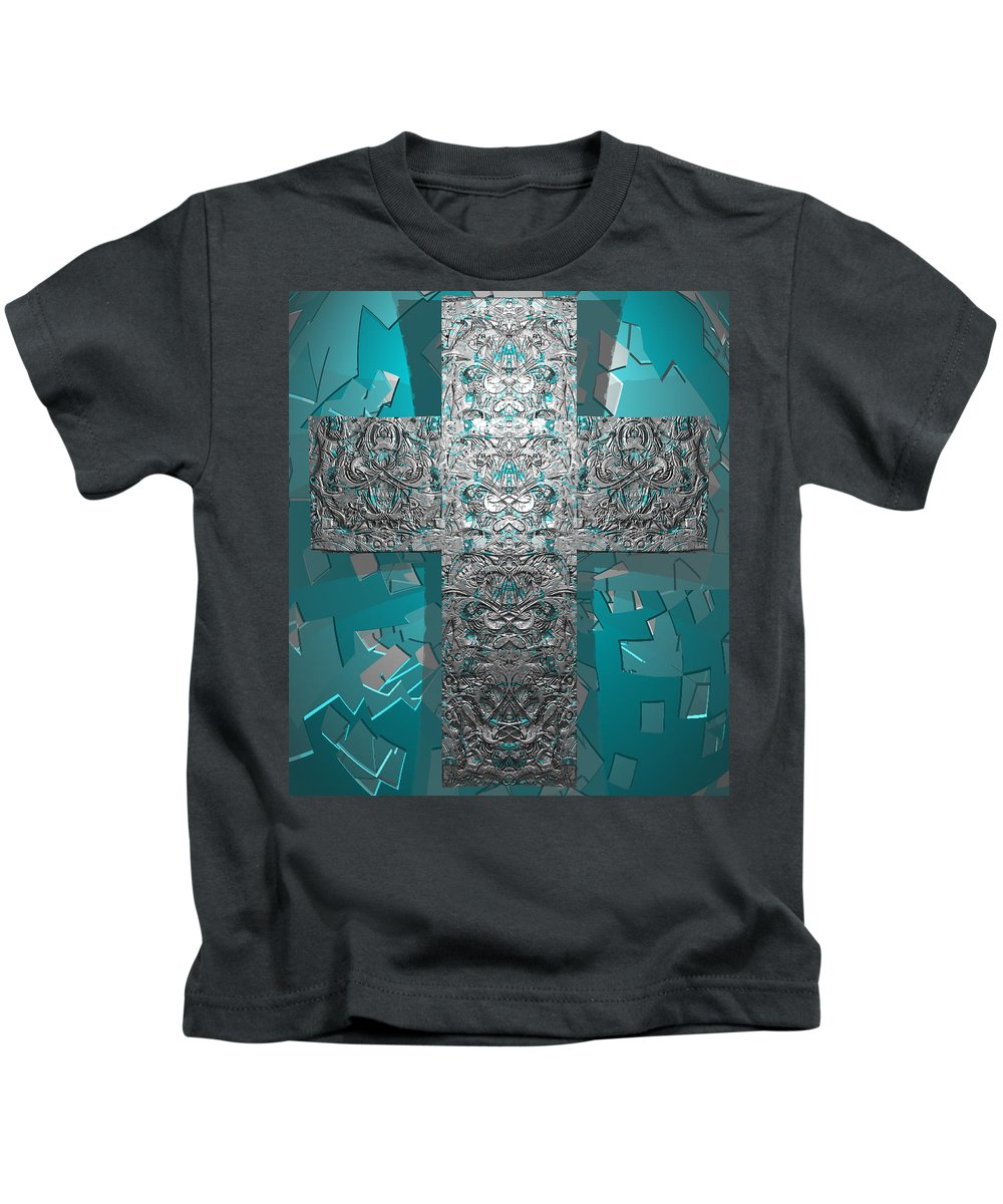 Kids T-Shirt featuring the digital art Dontsayanything B 14 2 For Rich by Zac AlleyWalker Lowing