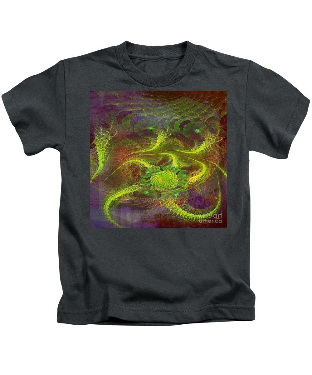 Dragons Kids T-Shirt featuring the digital art Dragon Nest - Square Version by John Robert Beck