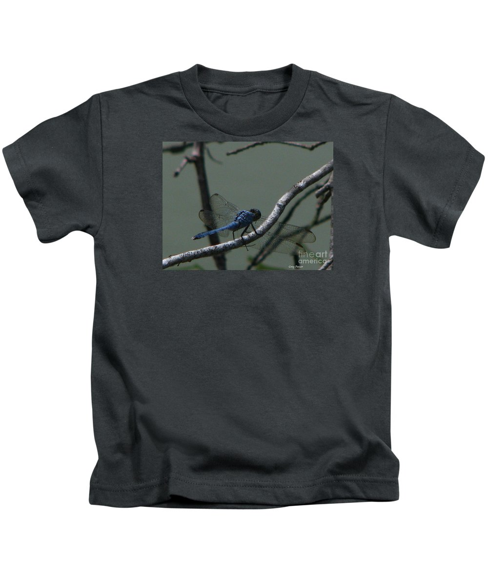 Art For The Wall...patzer Photography Kids T-Shirt featuring the photograph Dragonfly by Greg Patzer