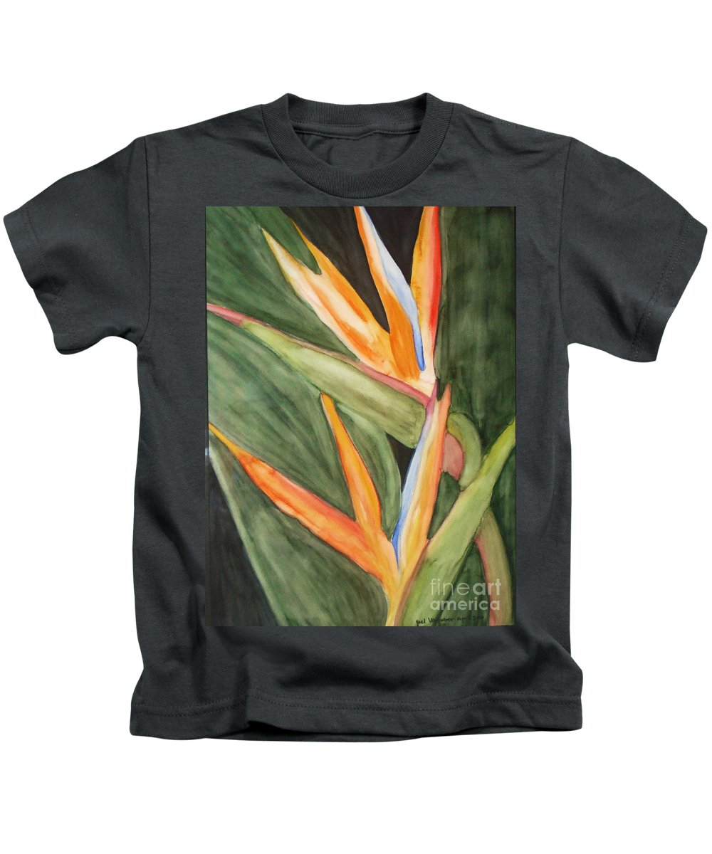 Paradise Flower Image Kids T-Shirt featuring the painting Dream As If You'll Live Forever  by Yael VanGruber