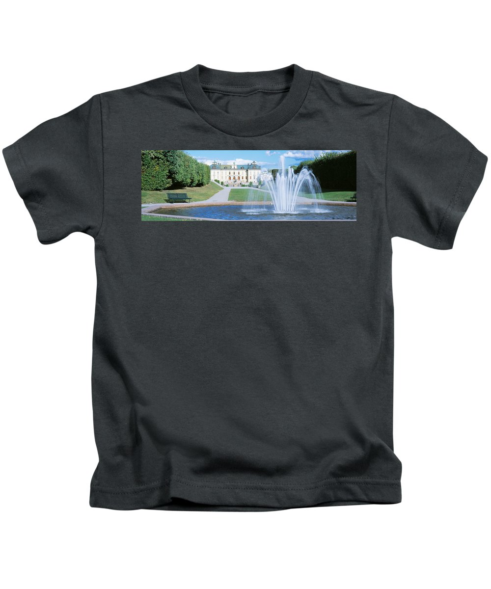 Photography Kids T-Shirt featuring the photograph Drottningholm Palace, Stockholm, Sweden by Panoramic Images