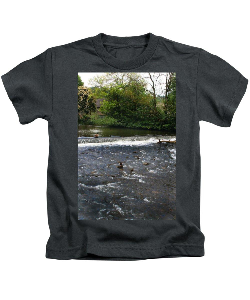 Landscape Kids T-Shirt featuring the photograph Ducks Enjoying The Open Air by Doc Braham