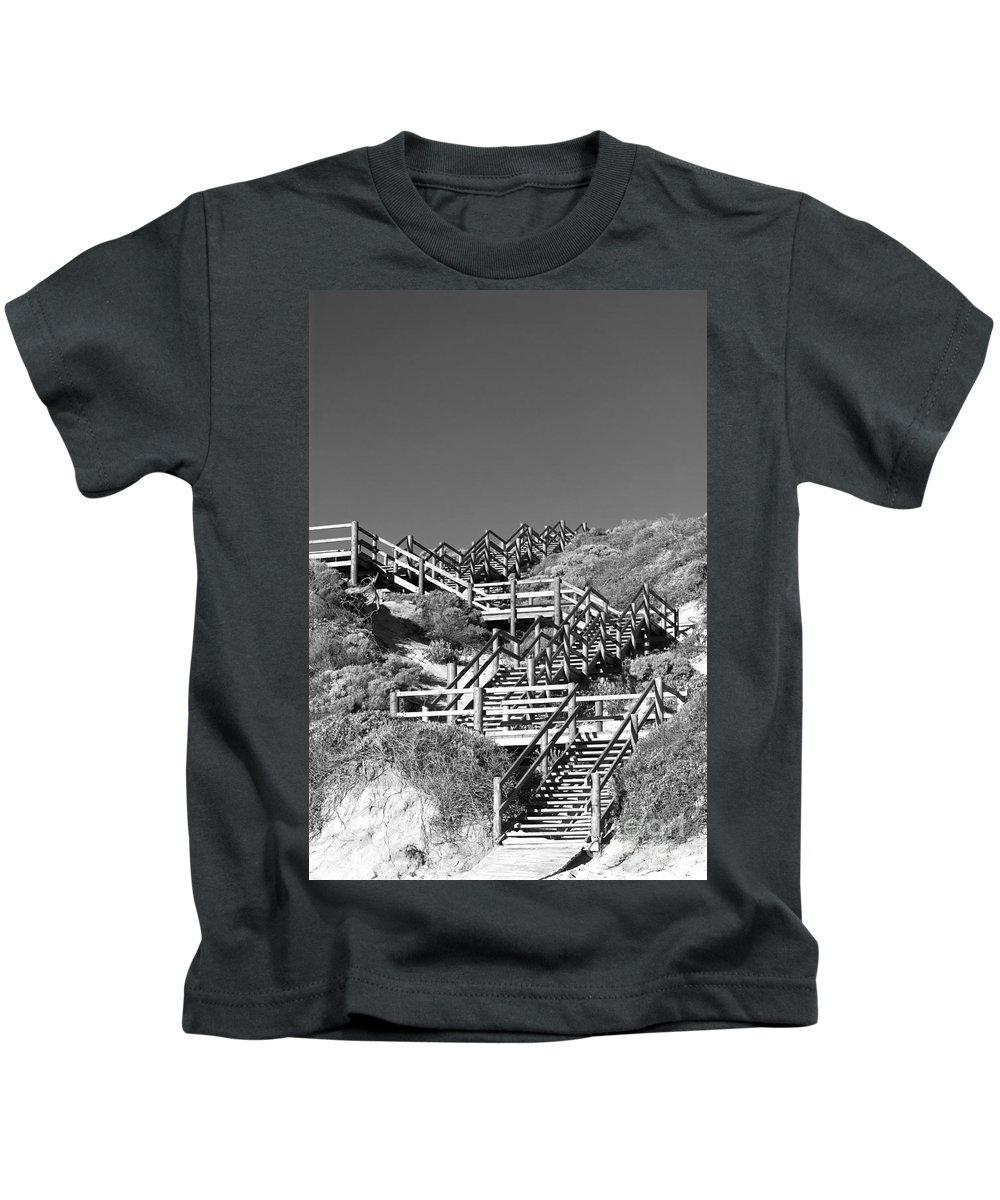 Australia Kids T-Shirt featuring the photograph Dune Steps 03 by Rick Piper Photography