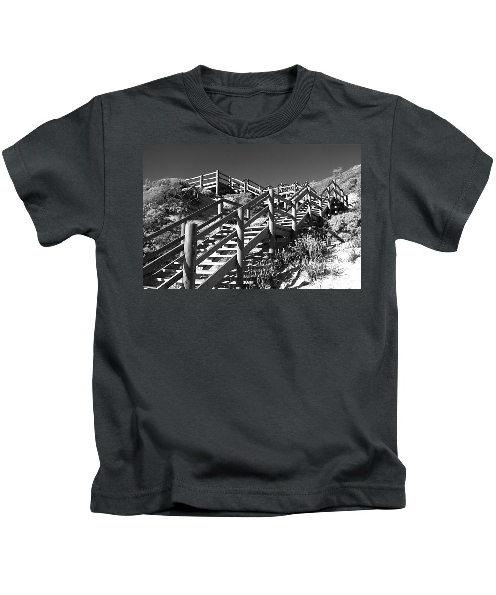 Australia Kids T-Shirt featuring the photograph Dune Steps 04 by Rick Piper Photography