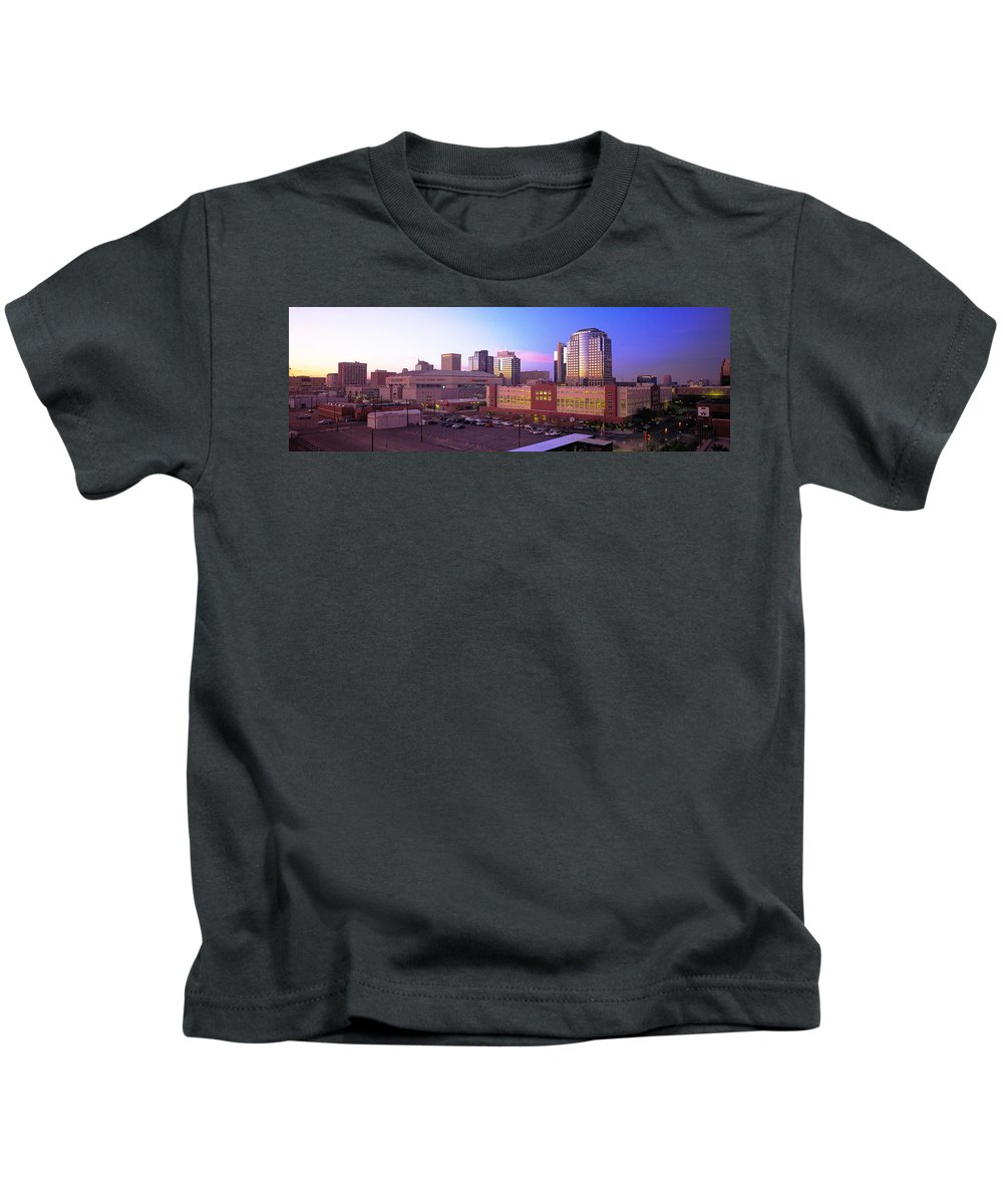 Photography Kids T-Shirt featuring the photograph Dusk Phoenix Az by Panoramic Images