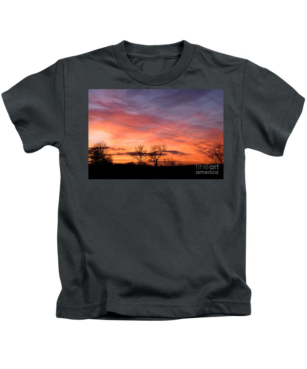 Birds Sundown Kids T-Shirt featuring the photograph Dust Bunnies At Sundown by Brothers Beerens