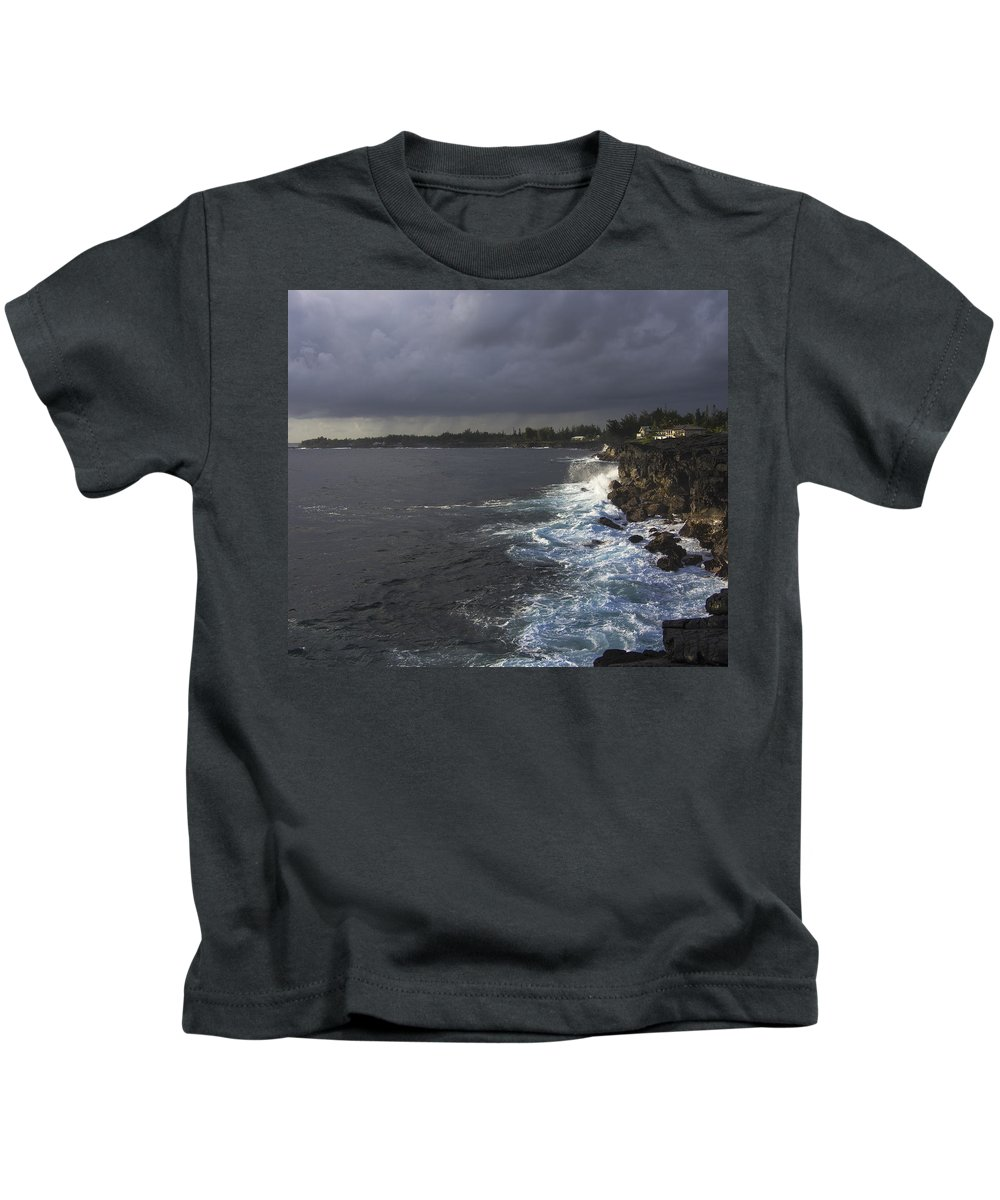Hawaii Kids T-Shirt featuring the photograph Early Morning Waves by Mike Herdering