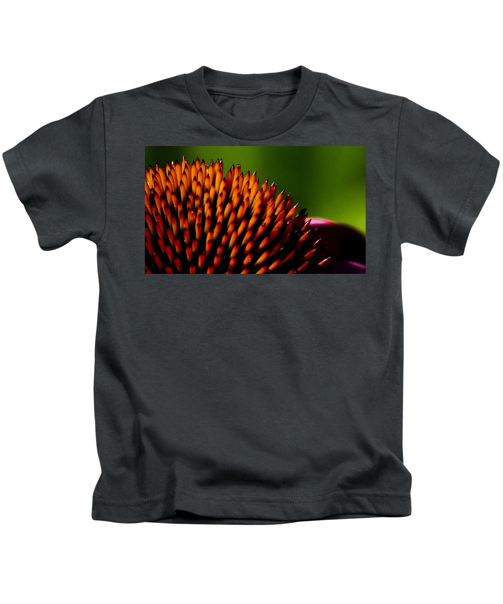 Echinacea Kids T-Shirt featuring the photograph Echinacea Up Close by Patrick Moore