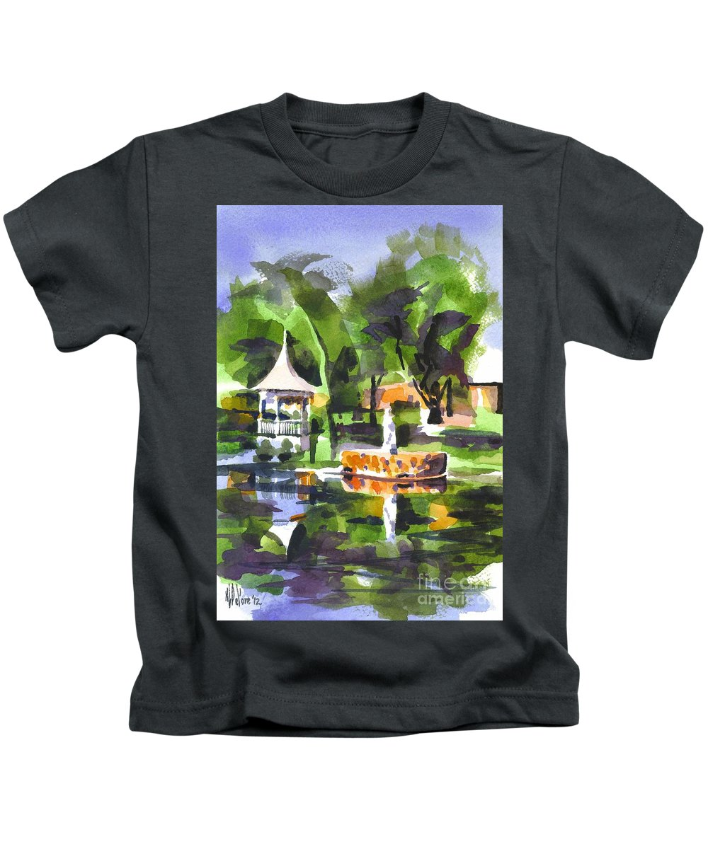 Emerald Isle Kids T-Shirt featuring the painting Emerald Isle by Kip DeVore