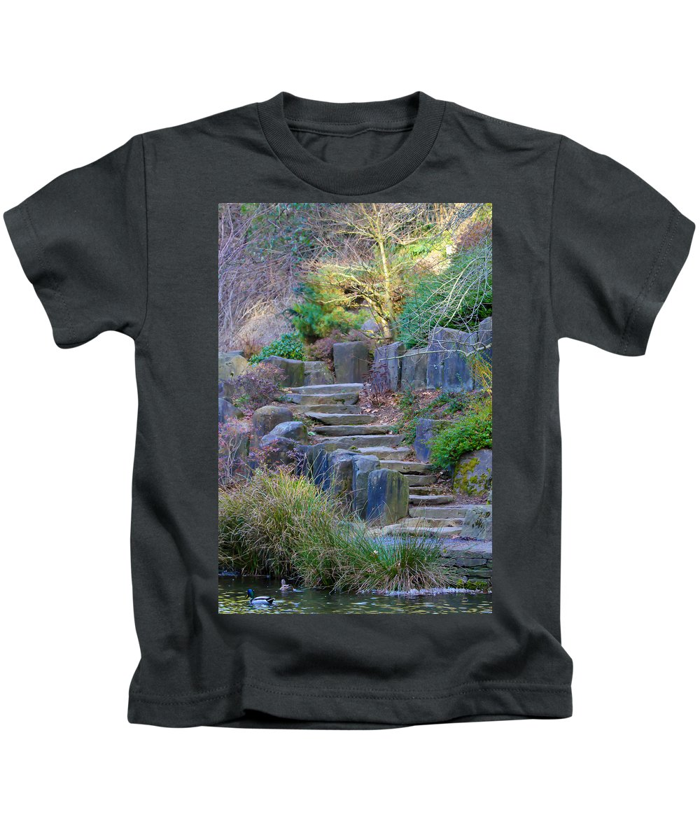 Stairs Kids T-Shirt featuring the photograph Enchanted Stairway by Athena Mckinzie