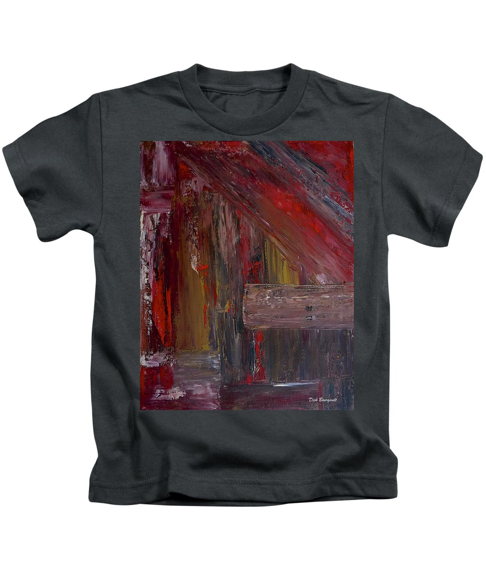 Abstract Kids T-Shirt featuring the painting Entrance by Dick Bourgault