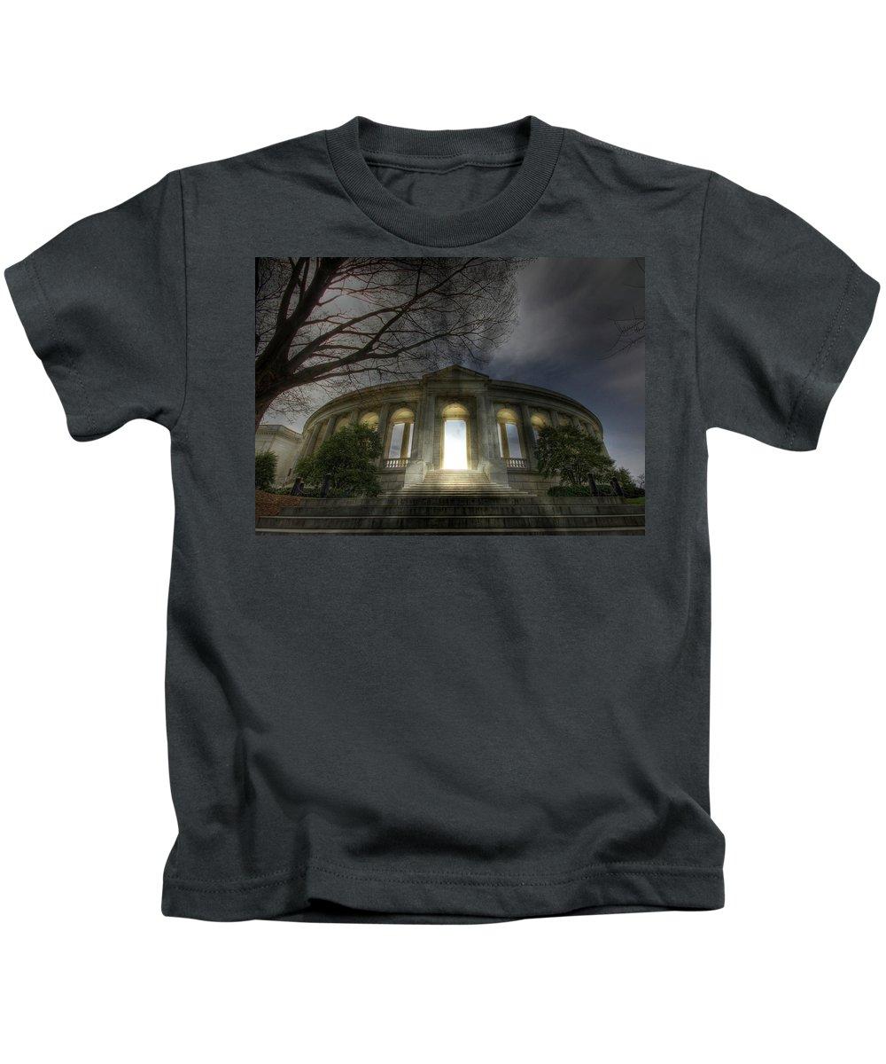 Arlington National Cemetery Kids T-Shirt featuring the photograph Eternal Life by Lori Deiter