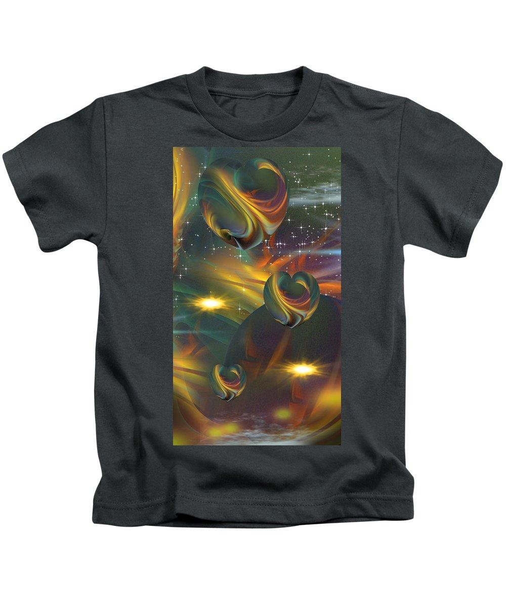 Phil Sadler Kids T-Shirt featuring the digital art Even More Mischief by Phil Sadler