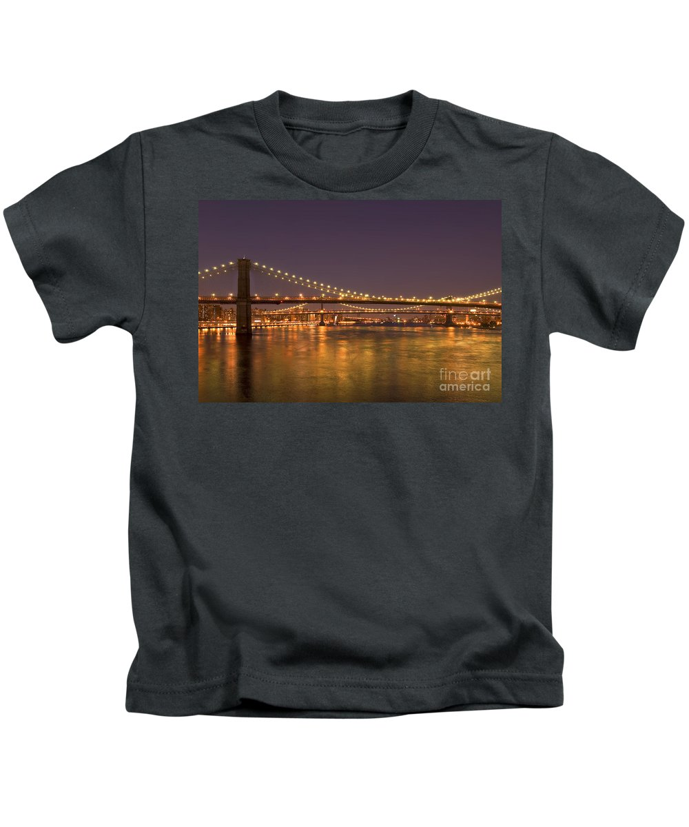 New York City Kids T-Shirt featuring the photograph Evening II New York City Usa by Sabine Jacobs