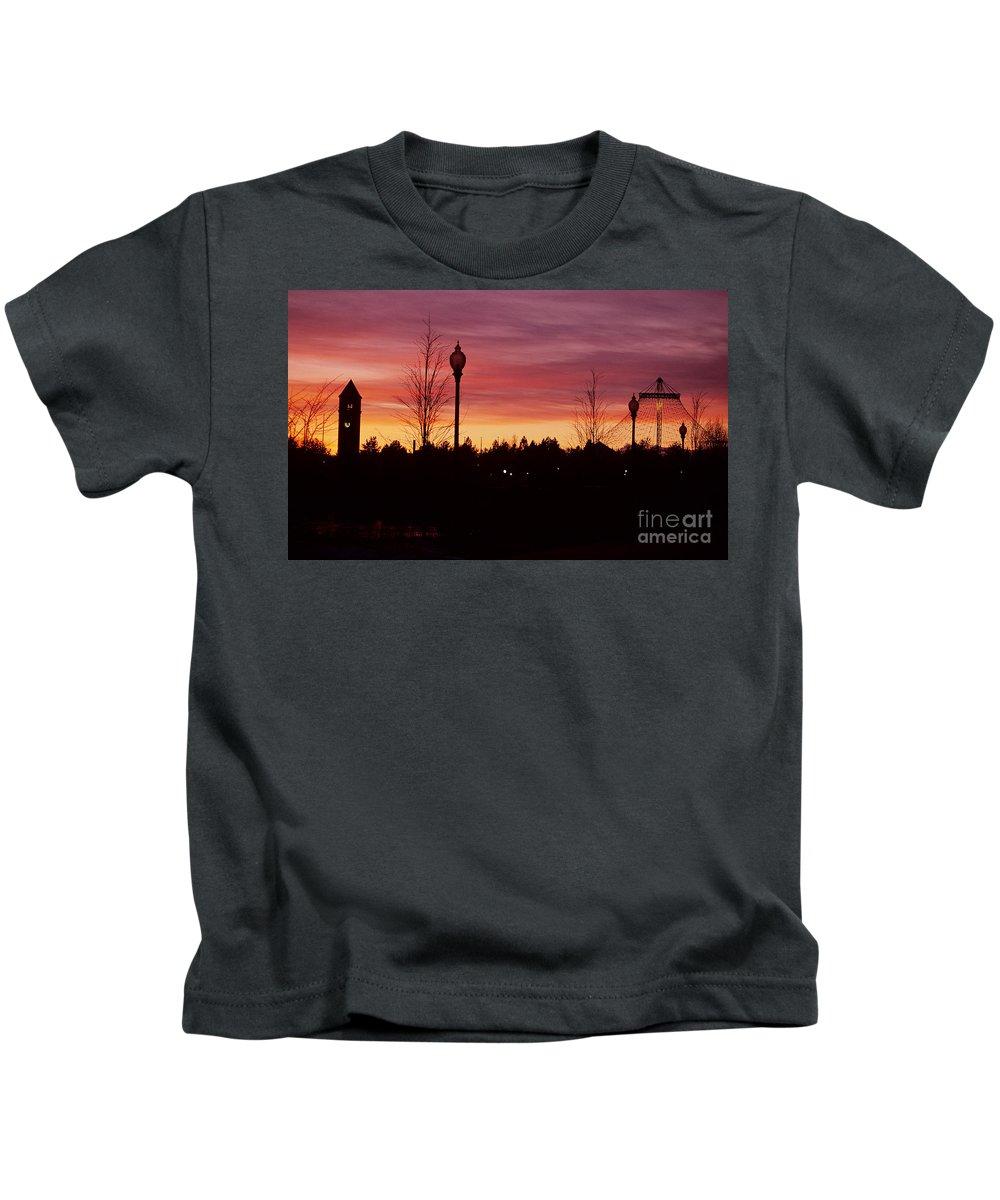 Spokane Kids T-Shirt featuring the photograph Evening In Riverfront Park by Sharon Elliott