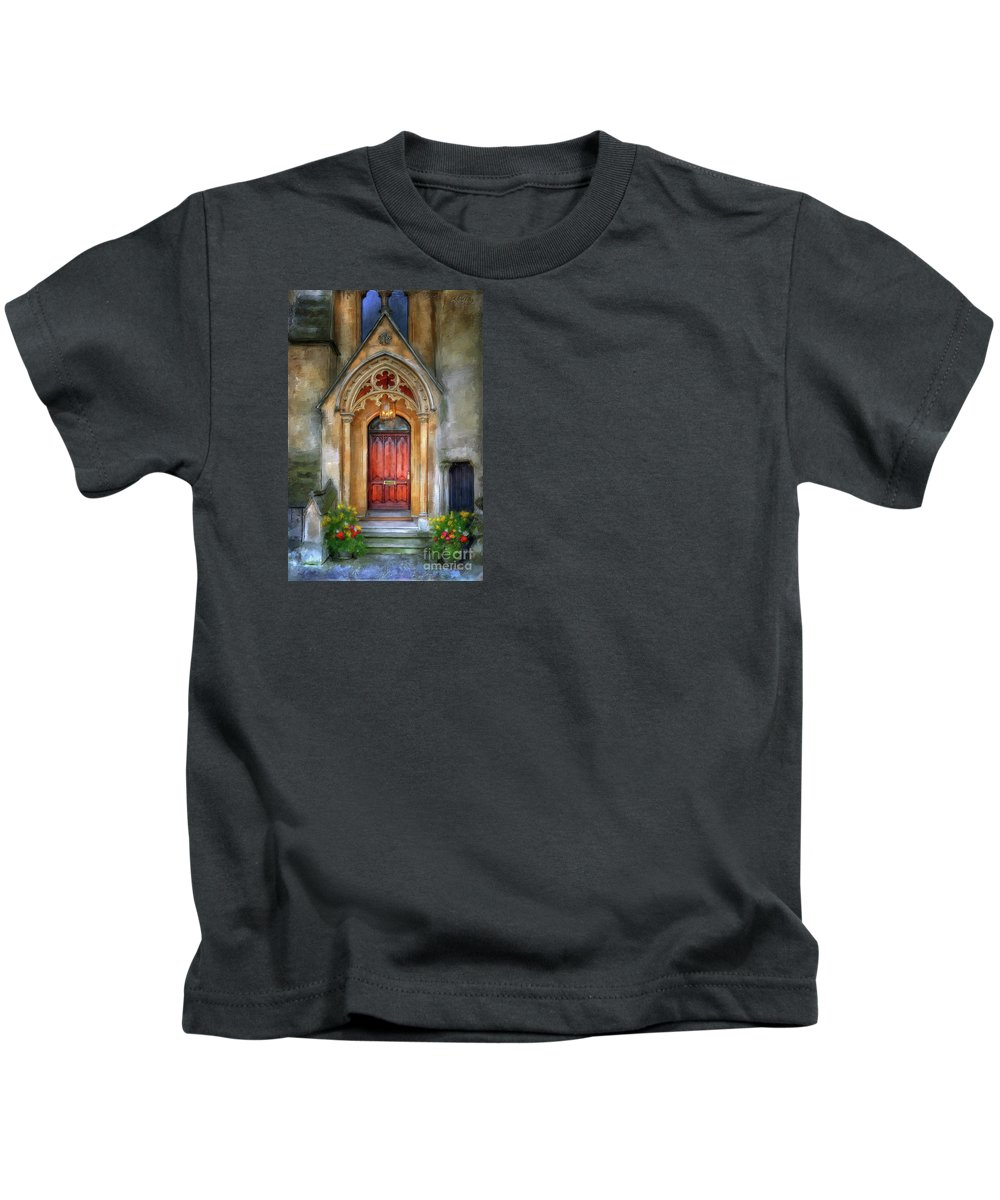 Landscape Kids T-Shirt featuring the photograph Autumn Evensong by Lois Bryan