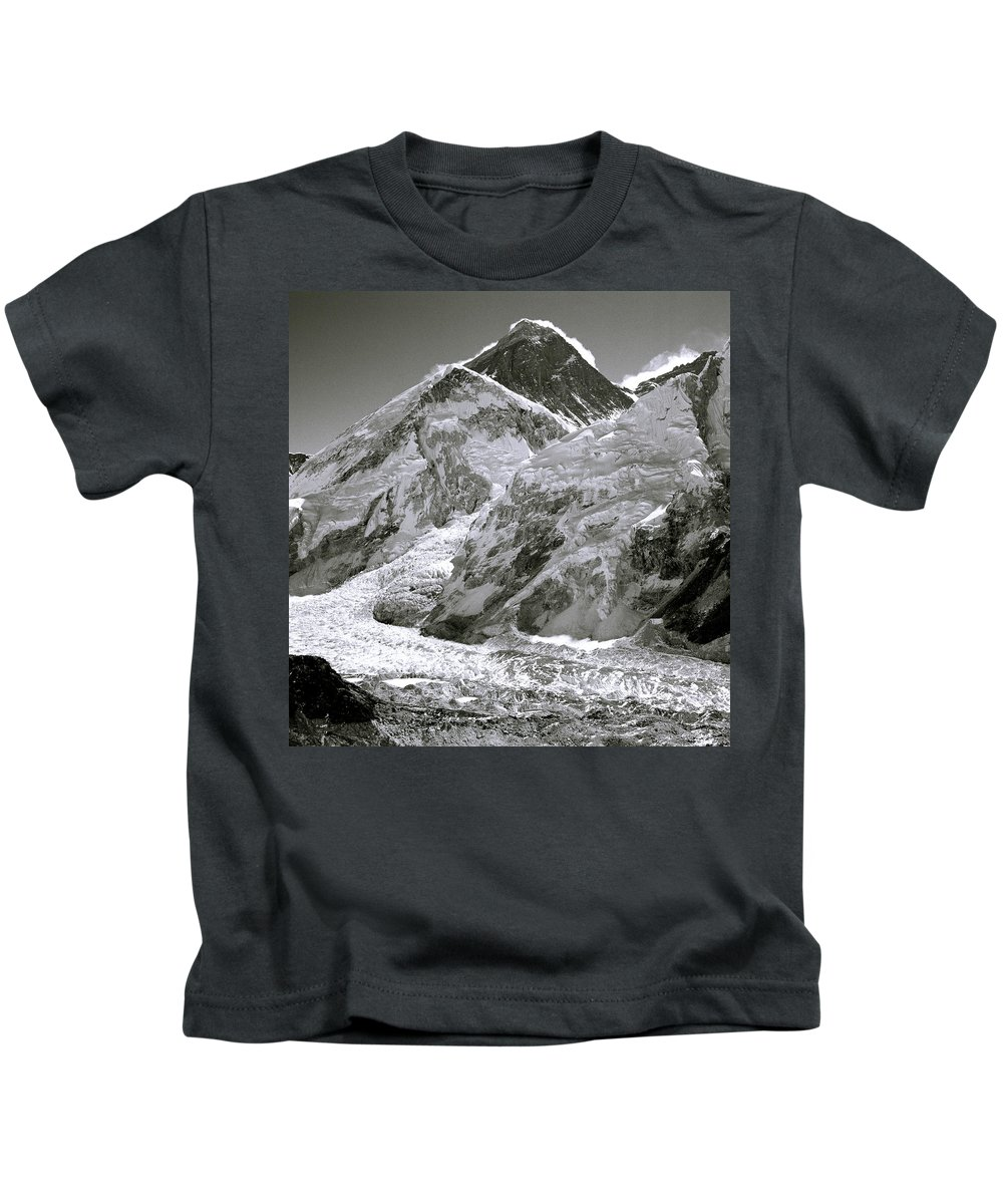 Everest Kids T-Shirt featuring the photograph Everest Sunrise by Shaun Higson