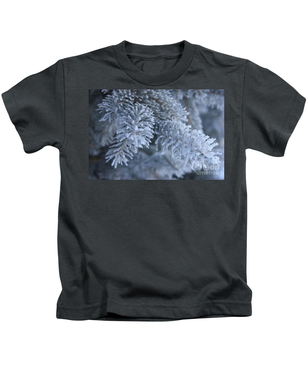 Evergreen Kids T-Shirt featuring the photograph Everwhite Evergreen by Brook Steed