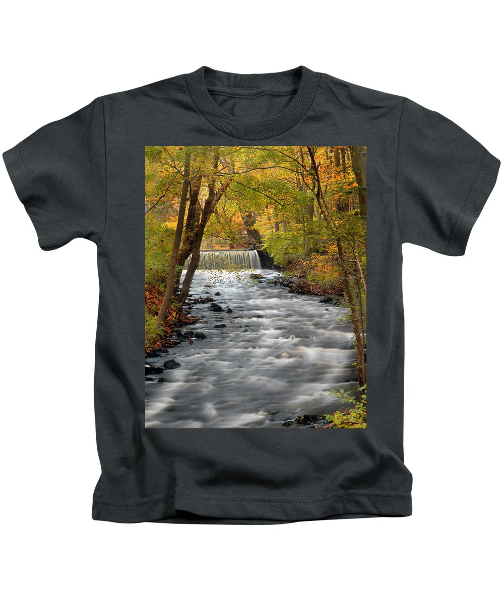 Autumn Kids T-Shirt featuring the photograph Fall Color by Dave Mills