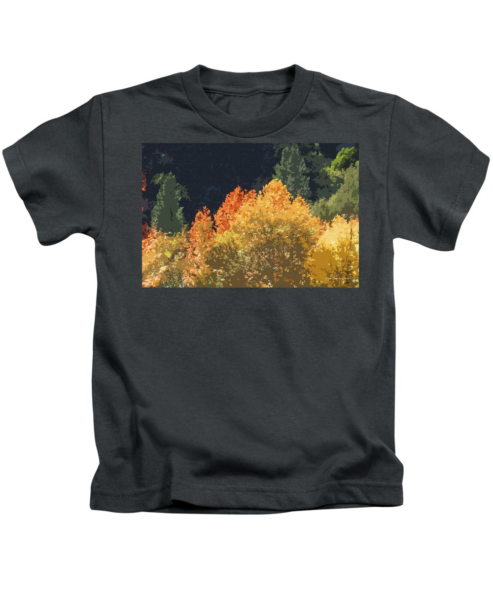 Fall Leave On The East Verde River Kids T-Shirt featuring the photograph Fall Leave On The East Verde River by Tom Janca