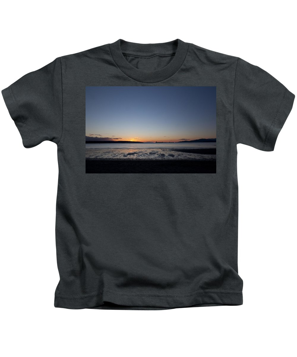 Denman Kids T-Shirt featuring the photograph Fall Sunset On Denman Street by Monte Arnold