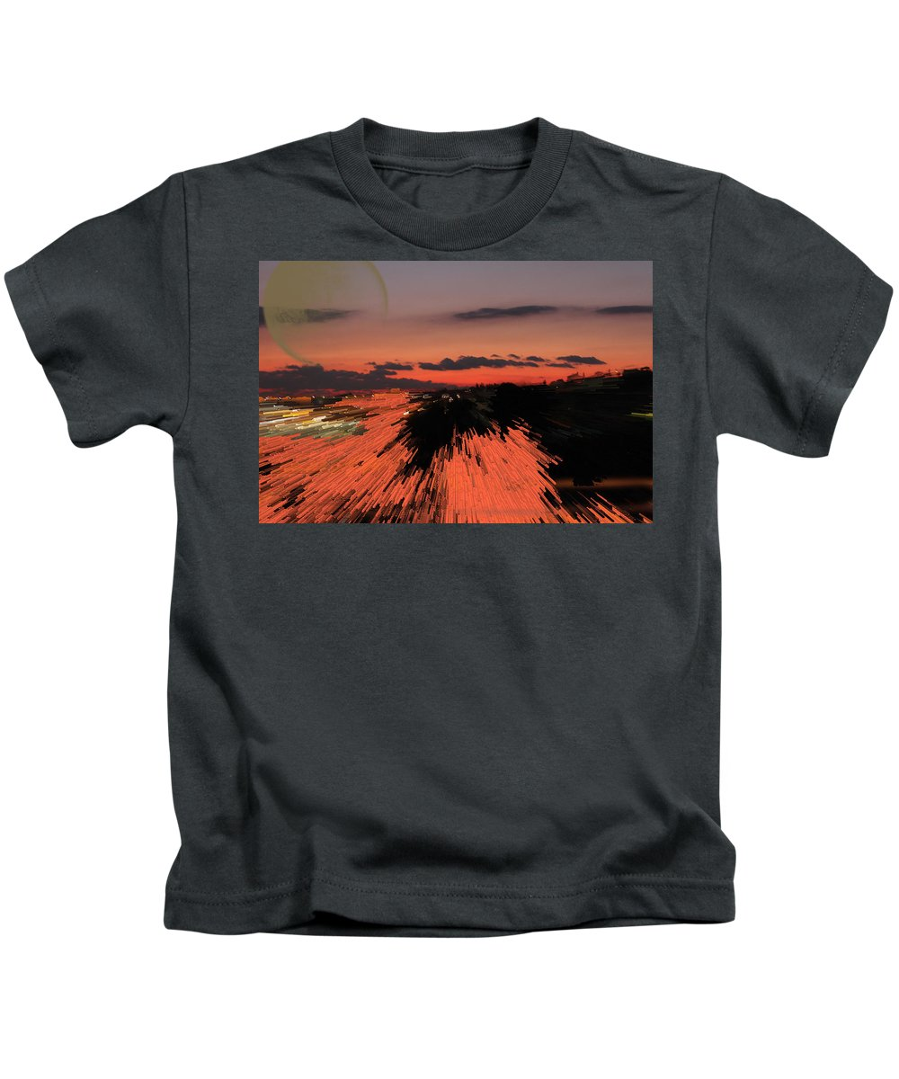 Augusta Stylianou Kids T-Shirt featuring the photograph Fantastic Space Sunset by Augusta Stylianou