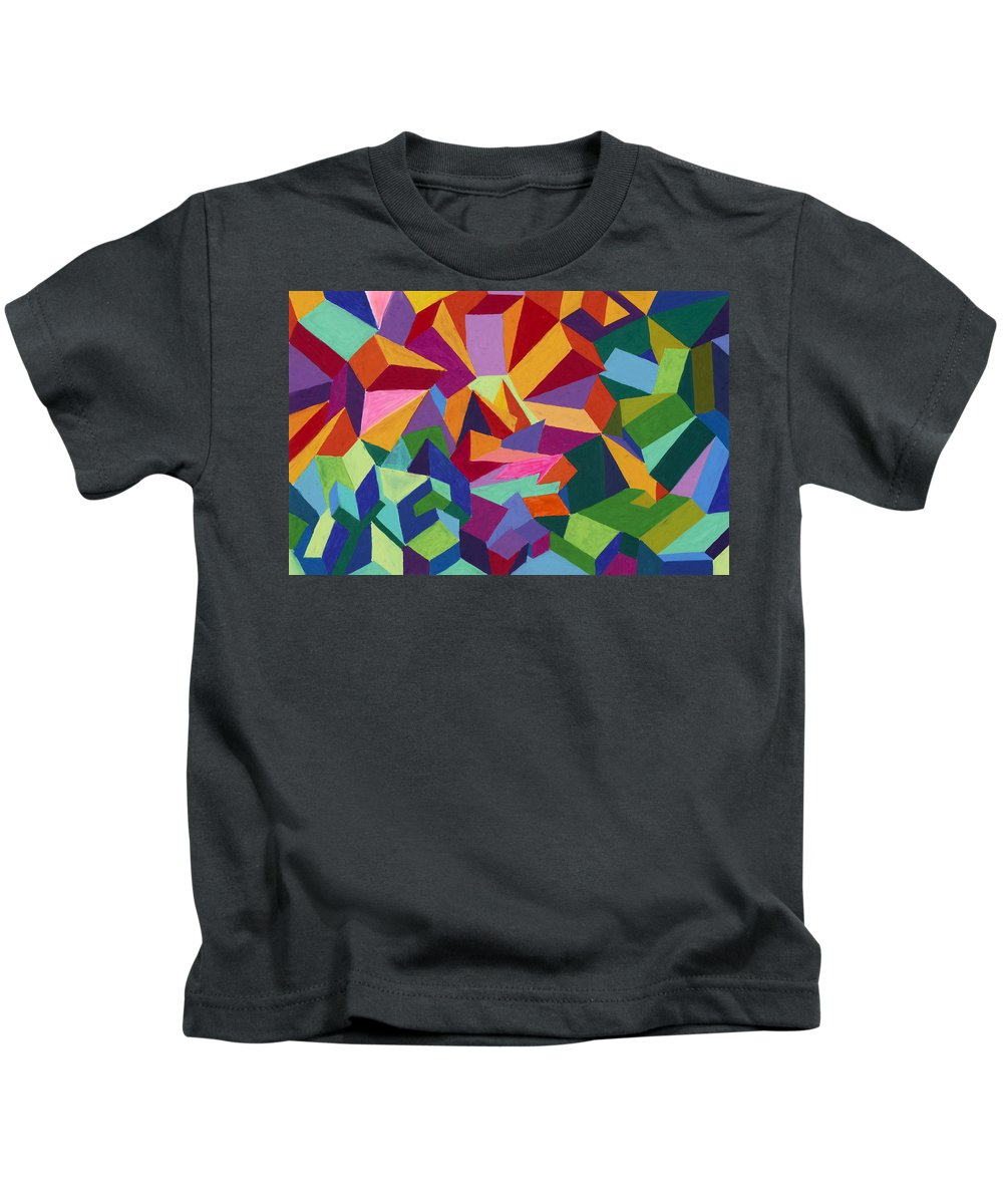 Farmhouse Kids T-Shirt featuring the painting This Is A Farmhouse by Sean Corcoran