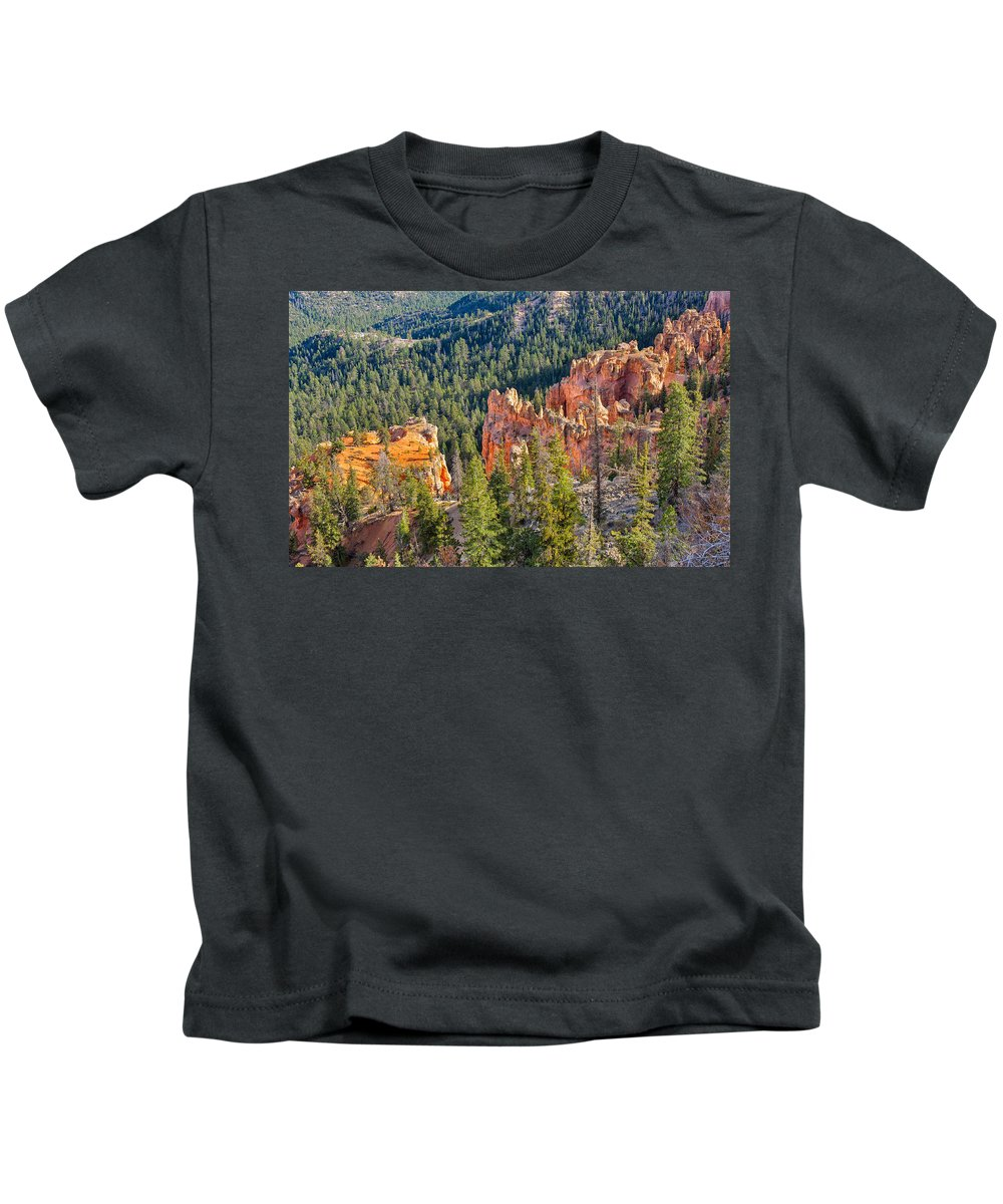Landscape Kids T-Shirt featuring the photograph Farview Point Overlook by John M Bailey