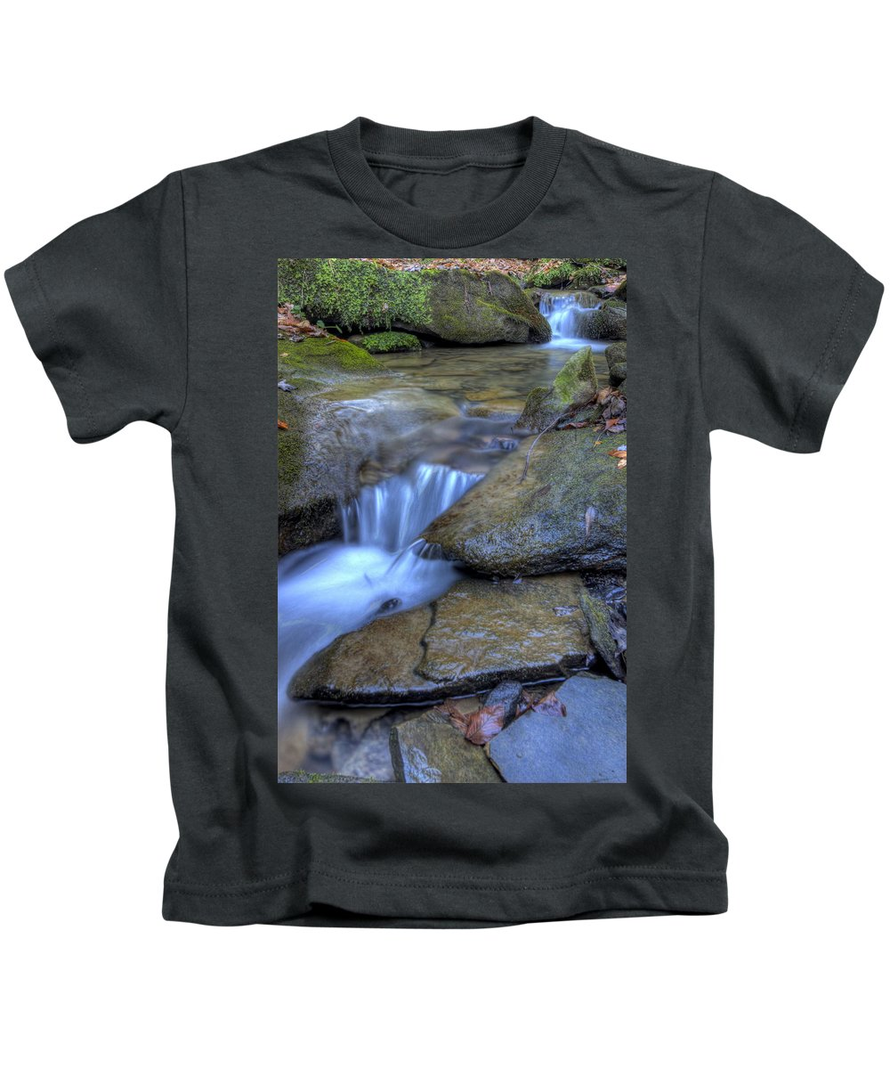 Cataract Kids T-Shirt featuring the photograph Feeder Creek Nature Scene by David Dufresne