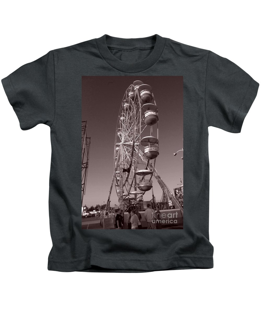Carnival Kids T-Shirt featuring the photograph Ferris Wheel 1 by September Stone