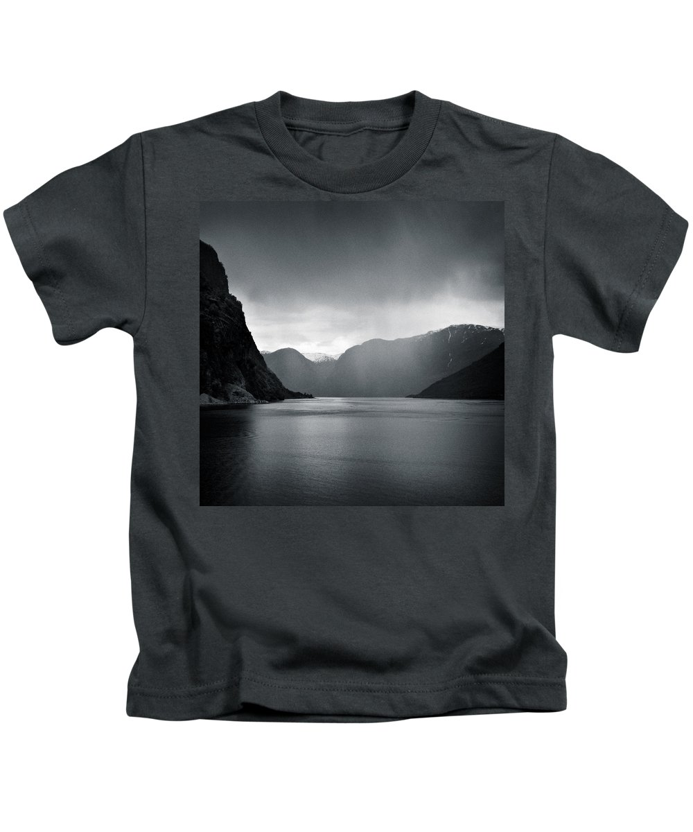 Norway Kids T-Shirt featuring the photograph Fjord Rain by Dave Bowman