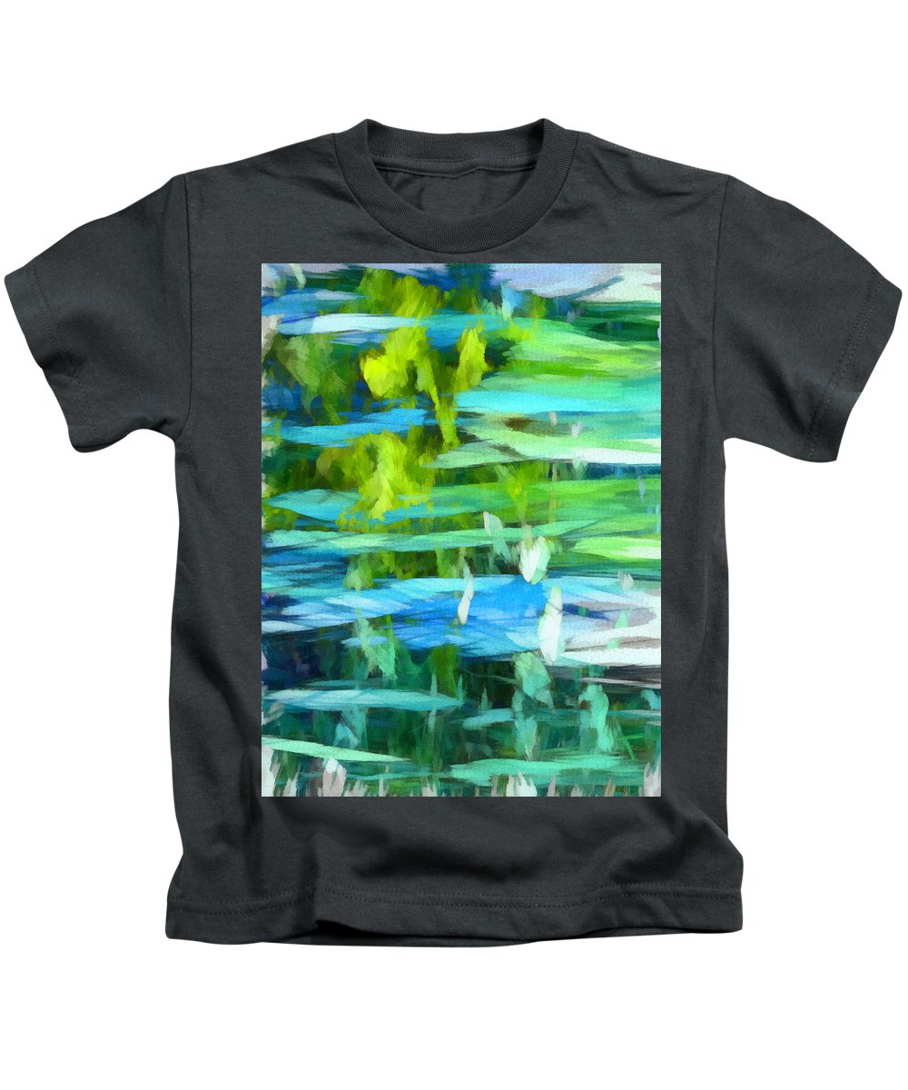 Float Kids T-Shirt featuring the mixed media Float 4 Vertical by Angelina Tamez