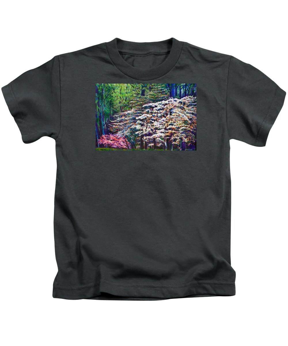 Landscape Kids T-Shirt featuring the painting Floral Cathedral by Michael Durst