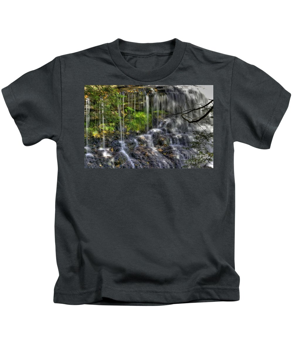 Water Kids T-Shirt featuring the photograph Flowing Water by David B Kawchak Custom Classic Photography